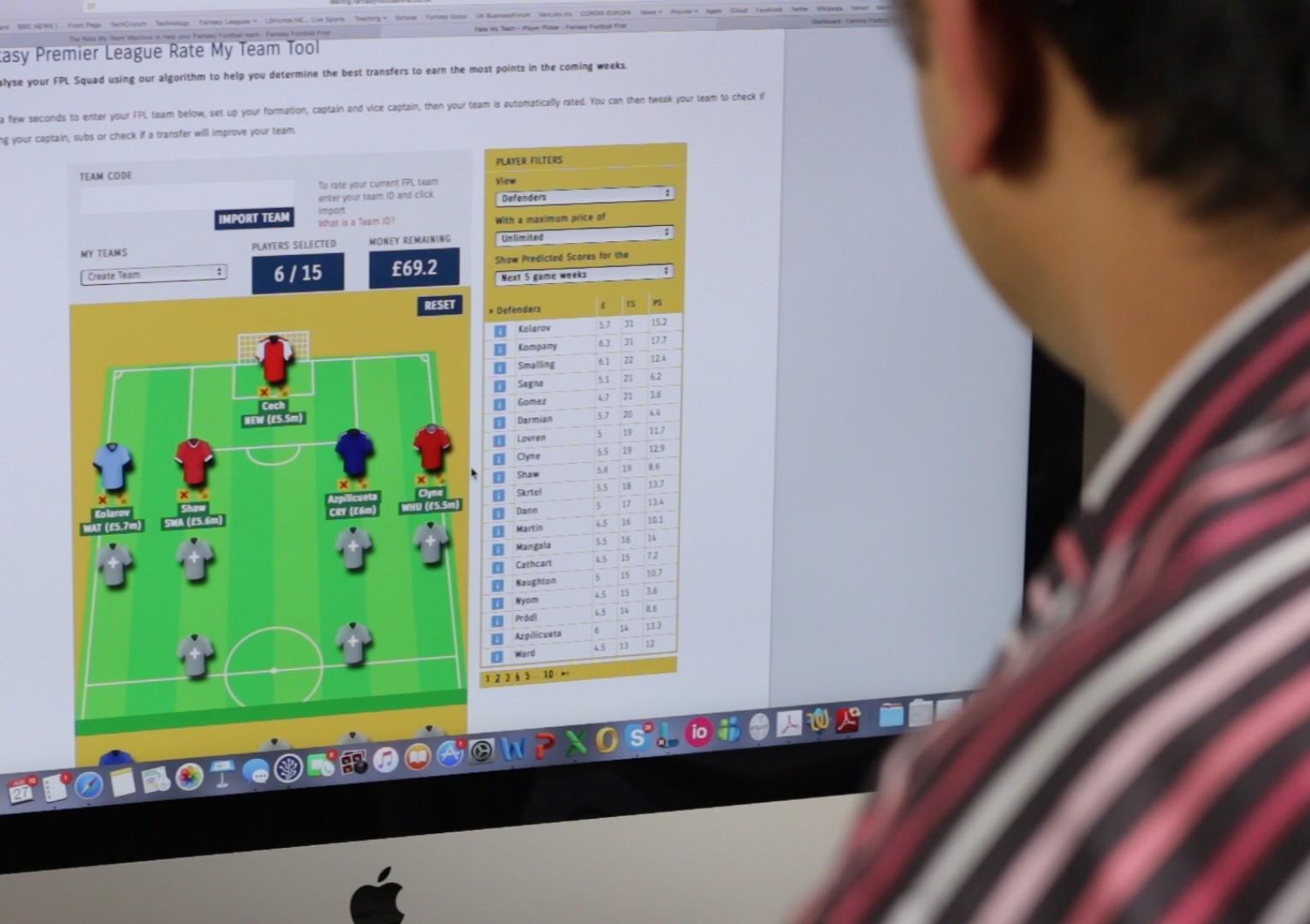 Premier League picks: Machine learning for fantasy football